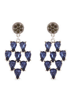 Erica Lyons Silver-Tone Drama Kite Chandelier Earrings