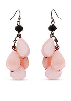Erica Lyons Two-Tone Blush House Drop Cluster Pierced Earrings
