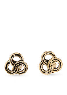 Erica Lyons Gold-Toned Hello Sailor Knot Clip Earrings