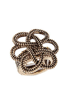 Erica Lyons Gold-Tone Hello Sailor Knot Stretch Fashion Ring