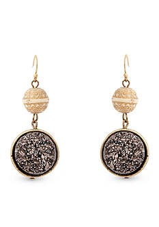 Erica Lyons Over the Taupe Double Drop Pierced Earrings