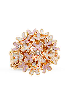 Erica Lyons Gold-Tone Dome Fashion Stretch Ring
