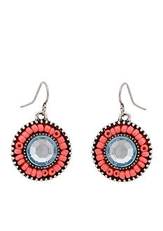 Erica Lyons Silver-Tone South West Spirit Drop Earrings