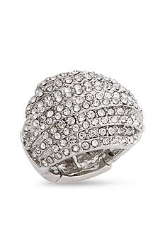 Erica Lyons Silver-Tone Glamorous Dome Fashion Stretch Ring