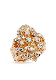 Erica Lyons Gold-Tone Filigree Cluster Fashion Stretch Ring