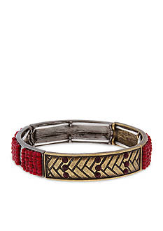 Erica Lyons Gold-Tone You Had Me At Merlot Large Bead Stretch Bracelet