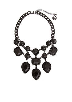 Erica Lyons Hematite-Tone Bad Romance Statement Necklace
