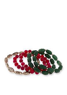 Erica Lyons Gold-Tone Just Jaded 5-Piece Stretch Bracelet Set