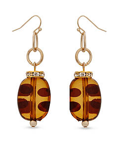 Erica Lyons Gold-Tone Tortally Reinvented Drop Earrings