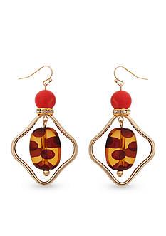 Erica Lyons Gold-Tone Tortally Reinvented Orbital Drop Earrings