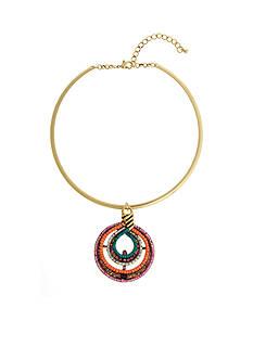 Erica Lyons Gold-Tone Pendant Choker Necklace