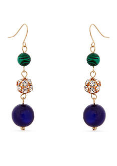 Erica Lyons Gold-Tone In The Midnight Hour Triple Drop Earrings