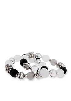 Erica Lyons Silver-Tone Dark and Stormy Stretch Bracelet Set