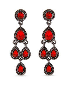Erica Lyons Hematite-Tone Drama Chandelier Earrings