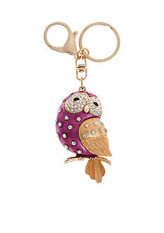 Erica Lyons Heart And Owl Key Chain Gift
