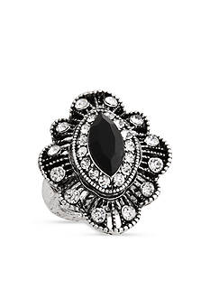 Erica Lyons Silver-Tone Glamorous Filigree Fashion Stretch Ring