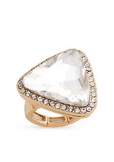 Erica Lyons Gold-Tone Glamorous Triangle Fashion Stretch Ring