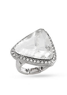 Erica Lyons Silver-Tone Glamorous Triangle Fashion Stretch Ring