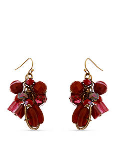 Erica Lyons Gold-Tone You Had Me At Merlot Cluster Drop Earrings