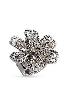 Erica Lyons Hematite-Tone Glamorous Multi Row Fashion Stretch Ring