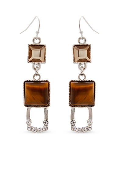 Erica Lyons Silver-Tone Pop Fizz Clink Drop Pierced Earrings