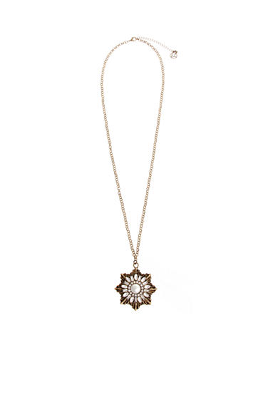 Erica Lyons Gold-Tone Estate Sale Burst Pendant Necklace