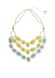 Erica Lyons Gold-Tone Brighten Your Day Triple Row Necklace