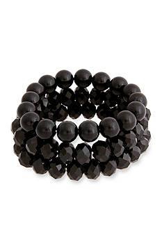 Erica Lyons Black La Vida Jet Stretch Bracelet