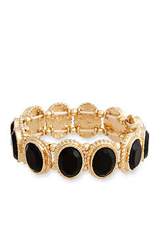 Erica Lyons Gold-Tone La Vida Jet Stretch Bracelet