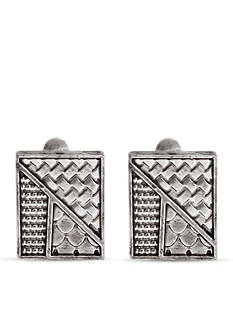 Erica Lyons Silver-Tone All Mixed Up Rectangle Earrings