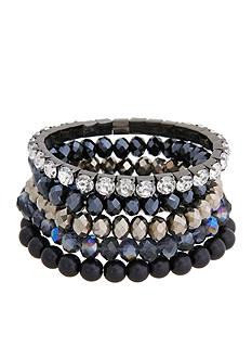 Erica Lyons Hematite-Tone You're So Sapphire 5-Piece Stretch Bracelet