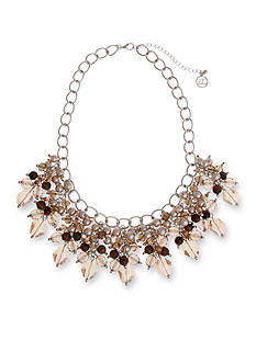 Erica Lyons Silver-Tone Pop Fizz Clink Statement Necklace