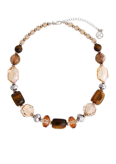Erica Lyons Silver-Tone Pop Fizz Clink Short Beaded Necklace