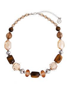 Erica Lyons Silver-Tone Pop Fizz Clink Short Beaded Necklace
