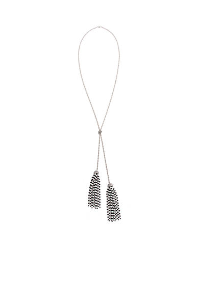 Erica Lyons Silver-Tone Bad Romance Long Double Tassel Pendant Necklace
