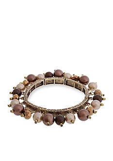 Erica Lyons Gold-Tone Mocha Choco Latte Shaky Stretch Bracelet