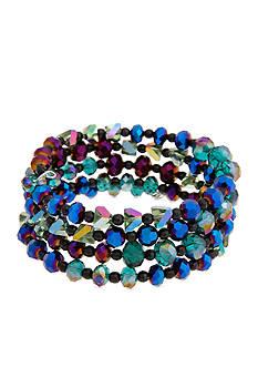 Erica Lyons Hematite-Tone Bad Romance Coil Beaded Bracelet