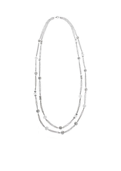 Erica Lyons Silver-Tone Ice Queen Layered Long  Necklace