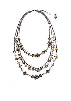 Erica Lyons Hematite-Tone Meet Me In Glitzerland Triple Row Layered Necklace