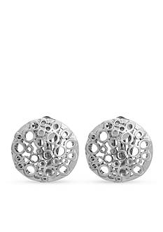 Erica Lyons Silver-Tone Filigree Dome Clip Earrings