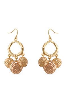 Erica Lyons Tri-Tone Rose Gold Trifecta Drop Earrings