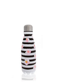 Erica Lyons Stainless Steel Floral and Stripe Water Bottle