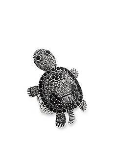 Erica Lyons Hematite-Tone Glamorous Turtle Fashion Stretch Ring