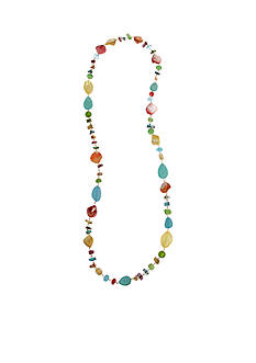 Erica Lyons Gold Tone Seed Bead Multi Long Strand Necklace