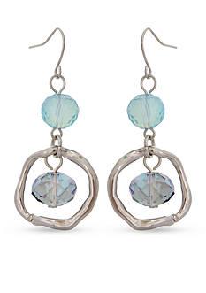 Erica Lyons Moody Blues Double Drop Orbital Earrings