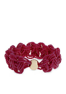Erica Lyons Gold-Tone Seed Bead Multi Braided Stretch Bracelet