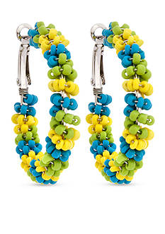 Erica Lyons Lime-A-Rita Hoop Pierced Earrings