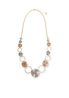Erica Lyons Tri-Tone Catch A Wave Long Necklace