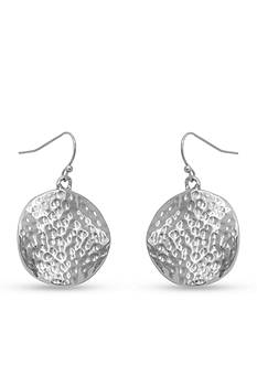 Erica Lyons Silver-Tone Catch A Wave Drop Earrings