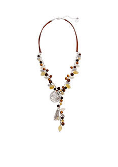 Erica Lyons Silver-Tone Put It In Neutral Y-Neck Necklace